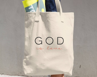 God is love Cotton Tote Bag