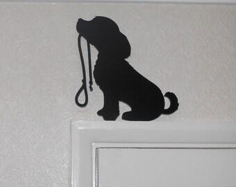 Unique MDF Dog Silhouette for Door Frames, Shelves, Skirting boards.