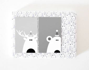 Printable Christmas Tags, Instant Download Christmas Gift Tags, Reindeer And Polar Bear Printable Gift Tags, Digital Download Christmas