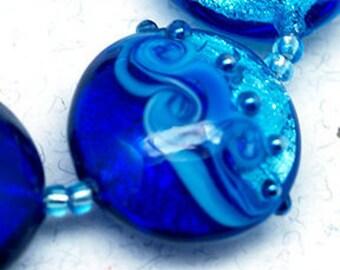 Lampwork beads, lampwork glass beads, glass beads, Lampwork bead, lampwork, handmade lampwork, jewelry supplies, handmade beads, lentil bead