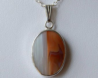 Sterling Silver Scottish Agate pendant necklace from Montrose - 43