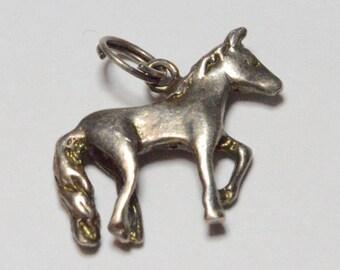 Vintage Sterling Silver Jezlaine Horse Charm Pendant