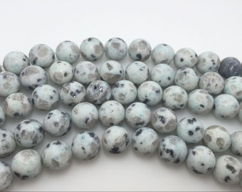 4mm / 6mm / 8 mm / 10mm / 12mm Round Matte Sesame  15''L, 38 cm Loose beads Semiprecious Gemstone Bead Wholesale Beads Supply