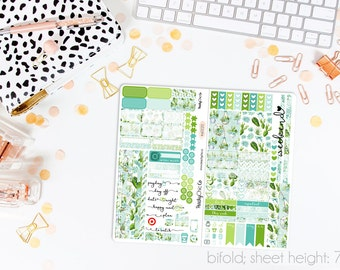 Sweet Succulents TN STANDARD Weekly Kit // 120+ Matte Planner Stickers // Perfect for your Standard Size Traveler's Notebook // TNS0220