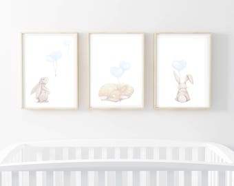 woodland prints, rabbit nursery art, nursery prints, rabbit prints, nursery wall prints, nursery prints, rabbit prints, woodland art prints