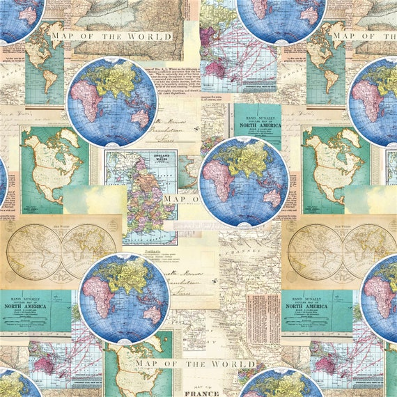 Map fabric world map north america map quilting material sewing map fabric world map north america map quilting material sewing material europeasiaafricausa craft supplies appareldiy homedecor from gumiabroncs Images