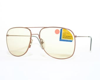 Eschenbach 80's Sunglasses Vintage Photochromic Novatrop 4 Automatic Glass Oversized Aviator Vintage New Old Stock FREE SHIPPING