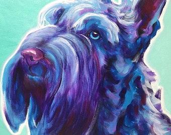 Scotty, Scottish Terrier, Scotty Art, Pet Portrait, DawgArt, Dog Art, Pet Portrait Artist, Colorful Pet Portrait, Scotty Art