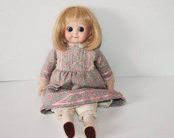 Beautiful J.D.K. 227 Googly Eyed Reproduction Doll /MEMsArtShop.