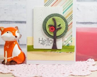Hello you - tree card