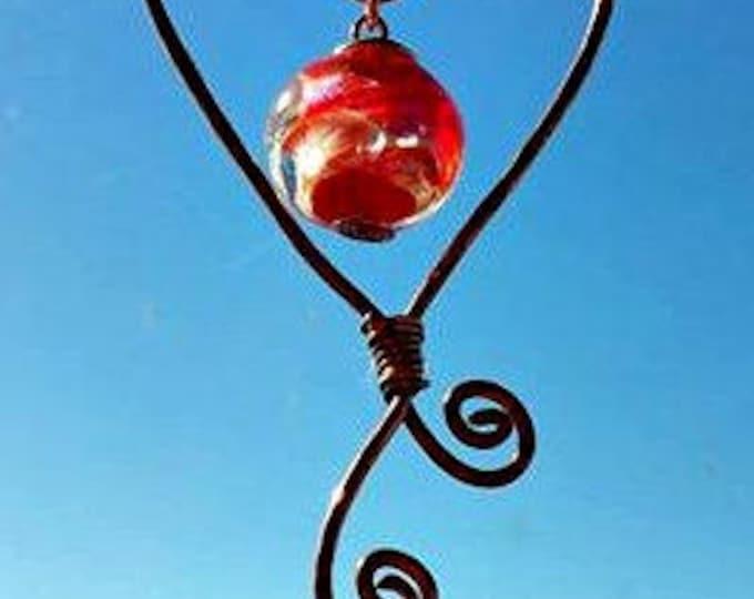 Ashes in Glass, Memorial Stone Car Charm, Pet Memorial,Memorial Ornament