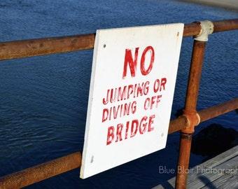 No Jumping or Diving print