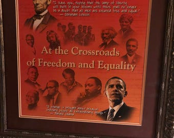 At The Crossroads Of Freedom and Equality Print