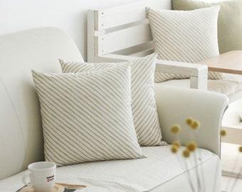 Gold diagonal line pillow cover, Gold diagonal line Cushion Cover, Geometric Pillow Case