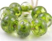 Olive Swirls SRA Lampwork...