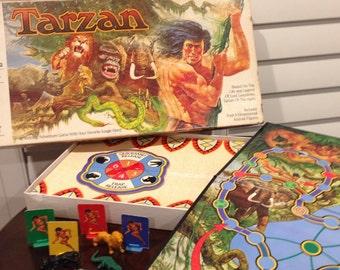 TARZAN 1983 Game Board Family Fun NIght Vintage