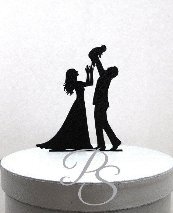 Wedding Cake Topper baby shower cake topper Family Wedding