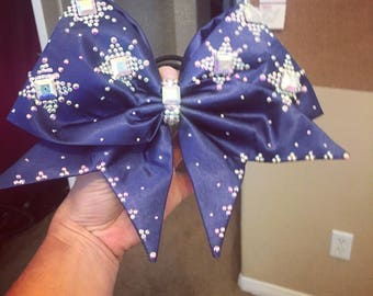 Navy bling bow!!