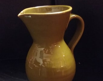Made in Italy green pottery pitcher