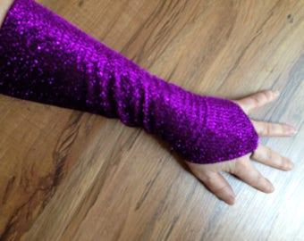 Belly Dance Gauntlets Purple