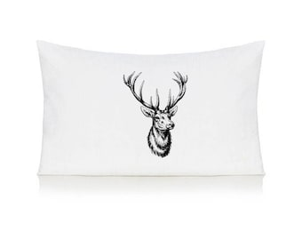 Stag head pillow case, cushion, bedding, pillow cover