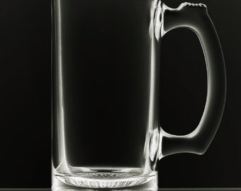 Chope à bière blanc 12 onces
