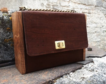 Brown Wood Vegan Bag