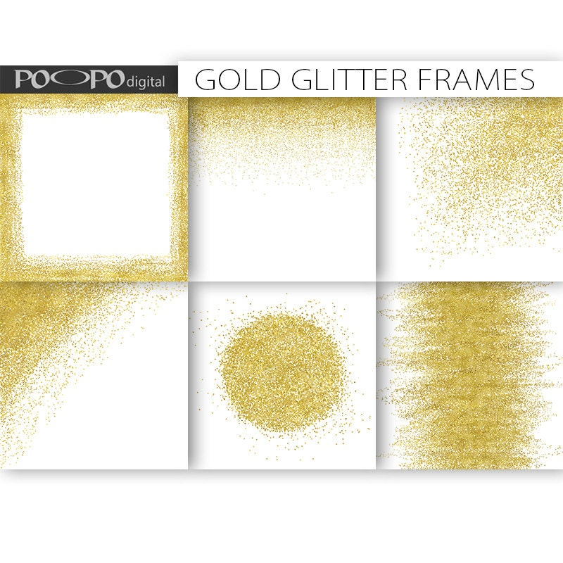 Gold frames borders clipart clip art digital paper template