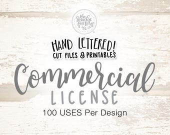 Commercial Use Licensing - 100 Uses Per Design (*Select Number of Designs From Menu)