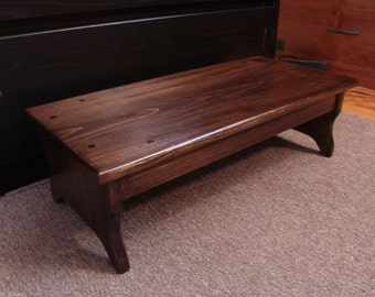 Handcrafted Heavy Duty Step Stool Solid Wood Adult Bedside