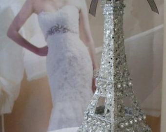 Cake Topper Paris Eiffel Tower Weddings 5 1/2 inches tall Beaconhillcollect cake toppers