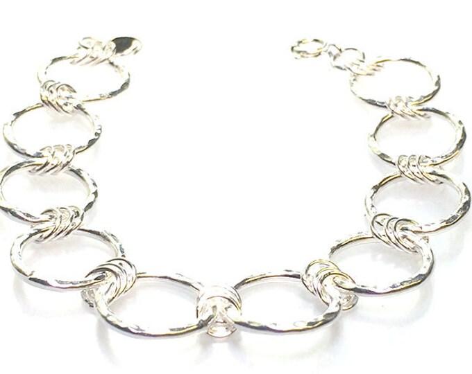 Hammered Chain Link Bracelet