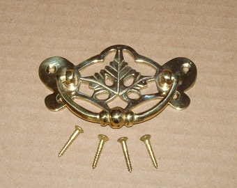 BB108 Vintage Brass Cabinet Pull