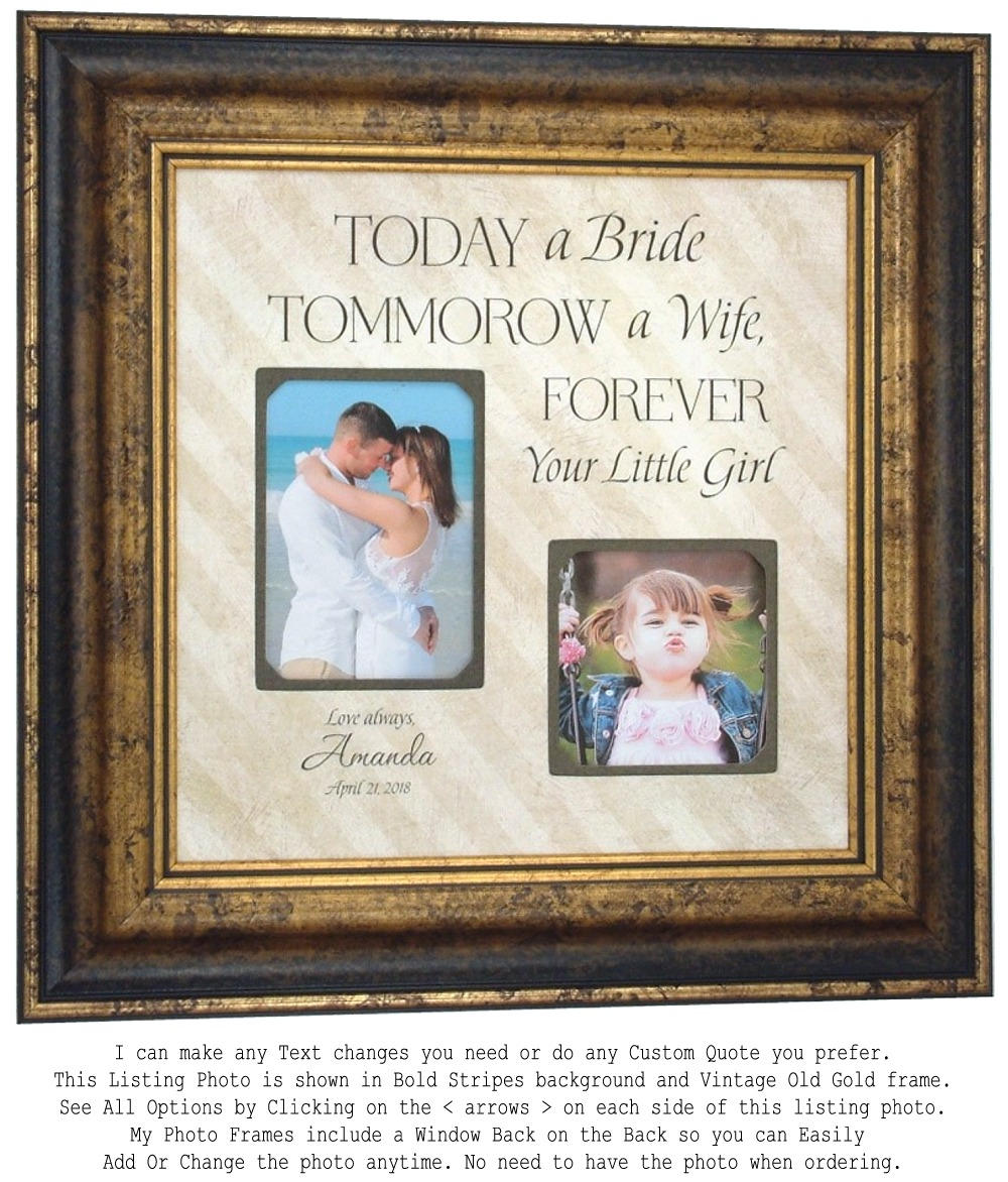 Personalized Wedding Picture Frame Unique Wedding Gift
