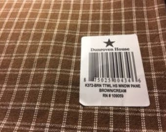 Tea Towel - 100% Cotton - HS Window Pane - K372-BRN