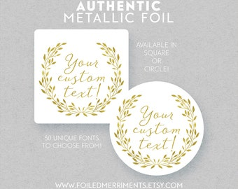 Rustic Greenery Sticker, Greenery Modern Wedding Stationery, Greenery Stickers, Greenery Wedding, Personalized Wedding Sticker, L084