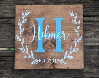 Wedding Date Sign, Established Sign, Custom Wedding Sign, Monogram Wedding Sign, Custom Wood Sign