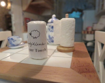 Modern Dollhouse Paper Towels
