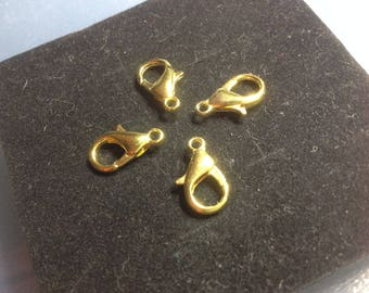 Gold plated lobster clasp