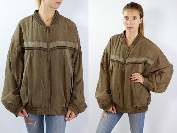 Silk Bomber Jacket Silk Balloon Jacket Silk Jacket Silk Bomber Silk Bomber Green Silk Jacket Green Bomber Jacket 90s Bomber jacket