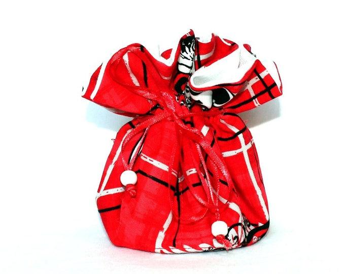 UNIVERSITY of GEORGIA Bulldogs Fabric Jewelry Organizer ~ Pouch ~ Storage Case ~ Bag ~ Tote - Bell Art Designs ~ Medium ~ JBMD0172