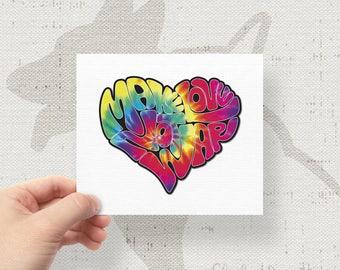 """Make Love, Not War 2 4.5"""" x 3.73"""" Bumper Sticker Decal"""