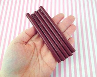 10 Chocolate Cherry brown glue sticks for drippy deco sauce, cell phone deco etc