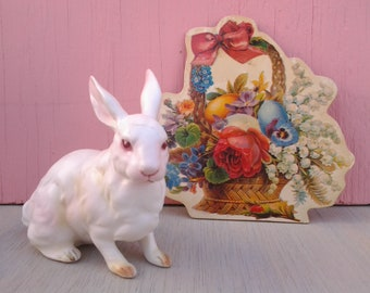Vintage Lefton bunny figurine - Easter bunny - rabbit figurine - vintage Easter - Easter decor - Easter basket - Spring decor