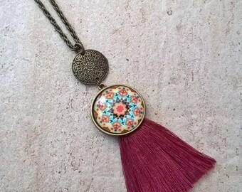 Bohemian oriental trend tassel necklace