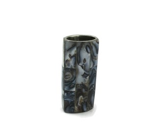 Vintage ABALONE  Lighter Holder Lighter Case Sleeve Cover Design Smoking Collectible Metal Item Gift Ideas NOS Mexican Christmas Gift