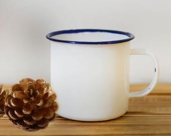 custom enamel mug, enamel personalised, Personalized Mug Cup, Mountain enamel mug adventure, Enamel Camping Mug, travel mug, adventure mug