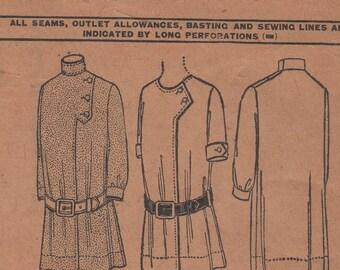 "Sz 4-FACTORY FOLDED 1908 Dress McCall Patterns 4906 Breast 23"""