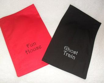 Embroidered / Personalised / Personalized Float Bag. Coin Bag. Change Bag. Bank Bag. Money Bag.