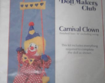 The Doll makers club Carnival Clown kit New